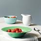 Lyngby Porcelæn Rhombe dyb tallerken 24,5 cm grøn