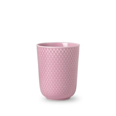 Lyngby Porcelæn Rhombe krus 33 cl rosa