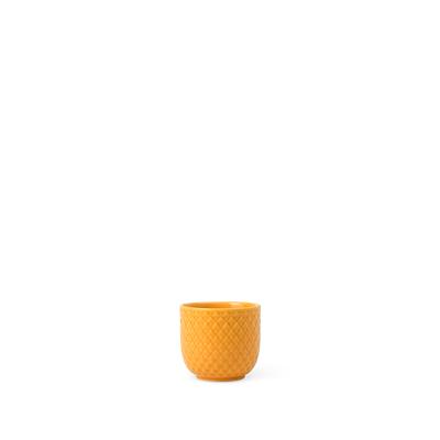 Lyngby Porcelæn Rhombe æggebæger gul