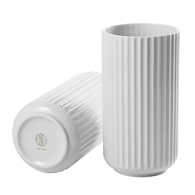 Lyngby Porcelæn vase 20 cm hvid. Porcelænsfabrikken Danmark