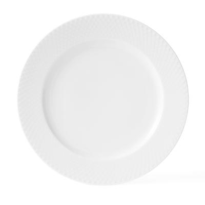 Lyngby Porcelæn Rhombe flad tallerken 27 cm