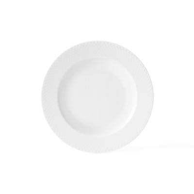 Lyngby Porcelæn Rhombe dyb tallerken 23 cm
