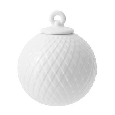 Lyngby Porcelæn Rhombe kugle hvid