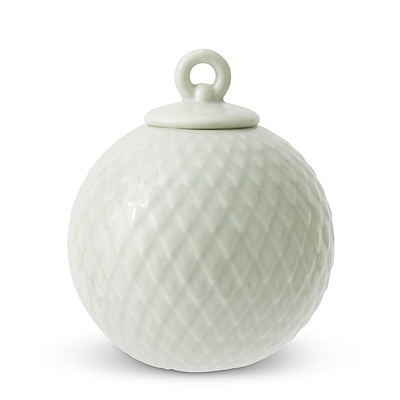 Lyngby Porcelæn Rhombe kugle soft grøn