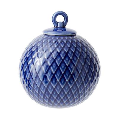 Lyngby Porcelæn Rhombe kugle mørkeblå