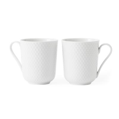 Lyngby Porcelæn Rhombe kop med hank 2 stk