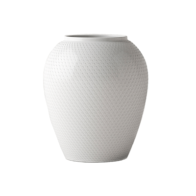 Lyngby Porcelæn Rhombe vase 25 cm