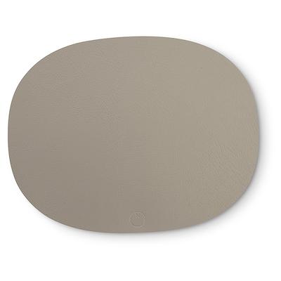 Noort oval dækkeserviet lys grå