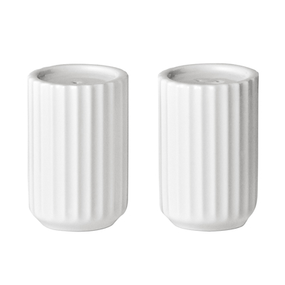 Lyngby strøsæt hvid porcelæn 6 cm