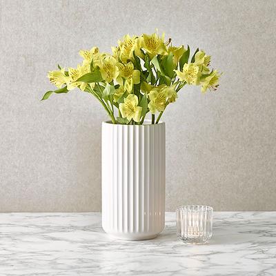 Lyngby vase 20 cm hvid