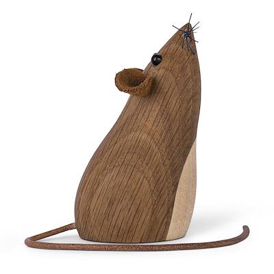 Gunnar Flørning mus i eg 7 cm
