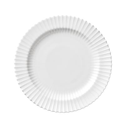 Lyngby flad tallerken 20 cm hvid