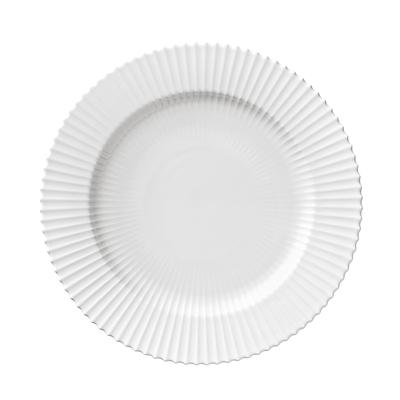Lyngby flad tallerken 27 cm hvid