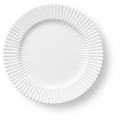Lyngby flad tallerken 23,5 cm hvid