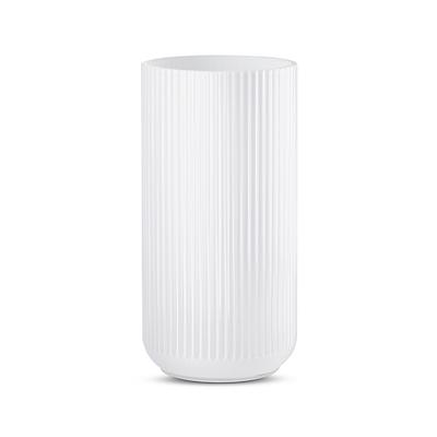 Lyngby vase 20 cm hvid opal glas