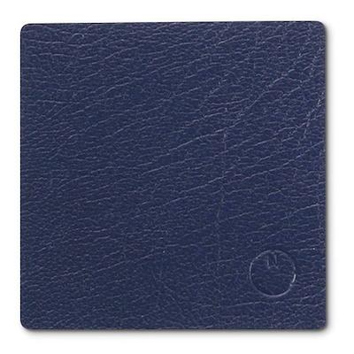 Noort firkantet glasbrik mat blå