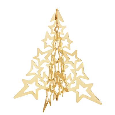 Georg Jensen 2021 juletræ forgyldt 12 cm