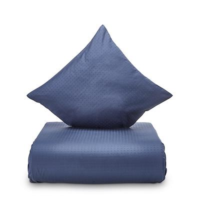Juna Cube sengesæt indigo blå 140x200 cm