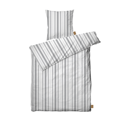 Juna Urban new stripe sengesæt grå 140x220 cm