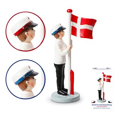 Det Gamle Apotek student med flag dreng 12 cm