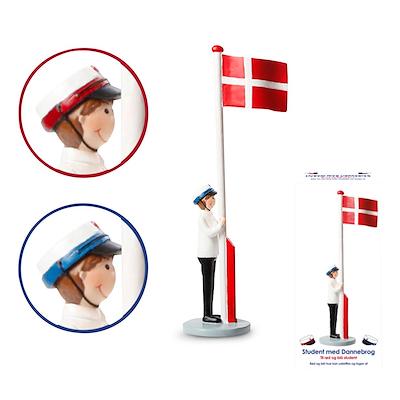 Det Gamle Apotek student med flag dreng 31 cm
