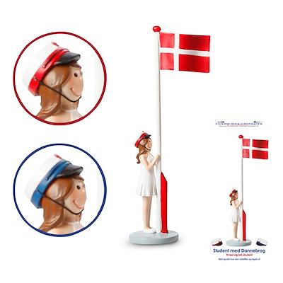 Det Gamle Apotek student med flag pige 31 cm