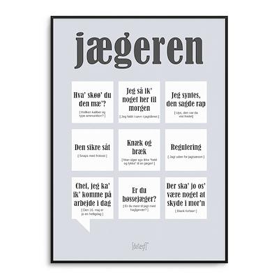 Dialægt plakat Jægeren 50x70 cm