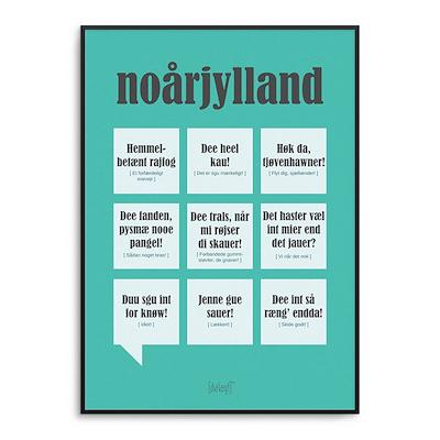 Dialægt plakat Nordjylland 50x70 cm