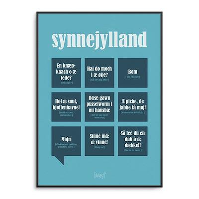 Dialægt plakat Sønderjylland 50x70 cm