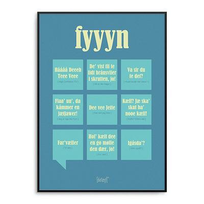 Dialægt plakat Fyn 50x70 cm