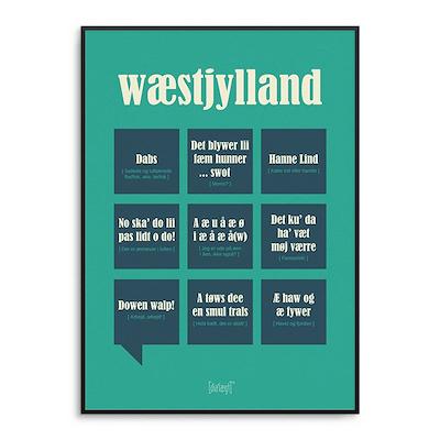 Dialægt plakat Vestylland 50x70 cm