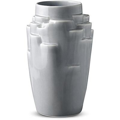 Knabstrup Keramik Plateau vase 25 cm lys blå