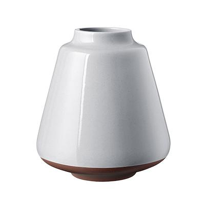 Knabstrup Keramik Anna vase 18 cm lys grå