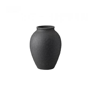 Knabstrup Keramik Knabstrup vase 12,5 cm antracitgrå