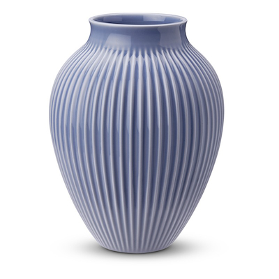Knabstrup vase riller 20 cm lavendelblå
