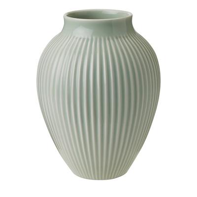 Knabstrup vase riller 20 cm mint