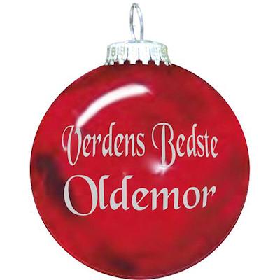 Rolsted Copenhagen julekugle: verdens bedste oldemor