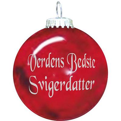 Rolsted Copenhagen julekugle: verdens bedste svigerdatter