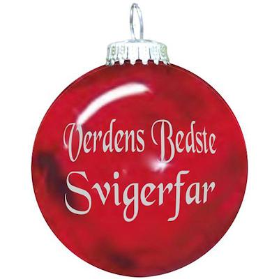 Rolsted Copenhagen julekugle: verdens bedste svigerfar