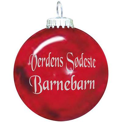 Rolsted Copenhagen julekugle: verdens bedste barnebarn