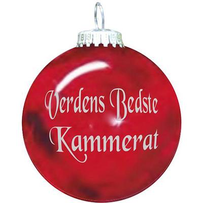 Rolsted Copenhagen julekugle: verdens bedste kammerat