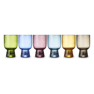 Lyngby Glas vandglas farvede 6 stk. 30 cl