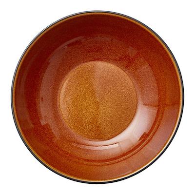 Bitz pastaskål sort/amber 20 cm