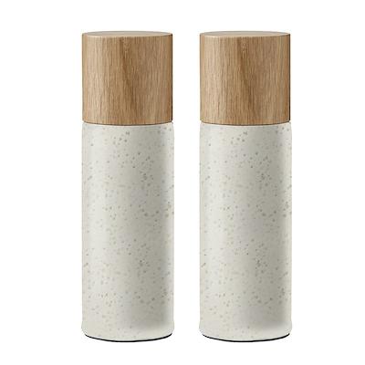 Bitz salt- og peberkværn mat creme 17 cm