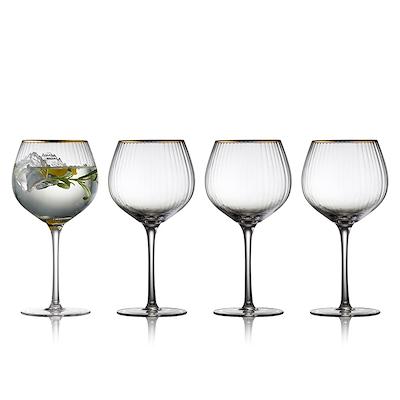 Lyngby Glas Palermo gin og tonic glas 4 stk. 65 cl