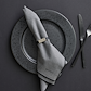 Bitz servietringe 4 stk grå/sort