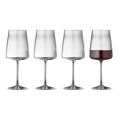 Lyngby Glas Zero rødvinsglas 4 stk. 54 cl