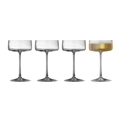 Lyngby Glas Zero champagneskål 4 stk. 26 cl