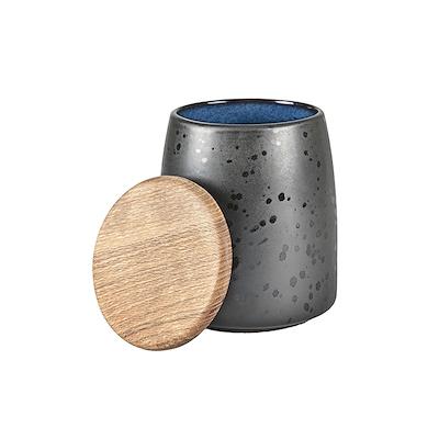 Bitz krukke med låg sort/mørkeblå 16,5 cm