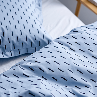 Södahl Graphic sengesæt sky blue 140x200 cm